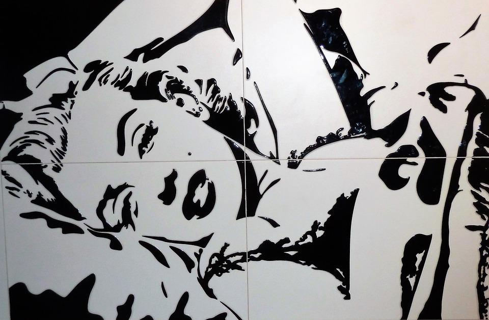 Art, Tiles, Marilyn Monroe, Model, Sexy, Beauty