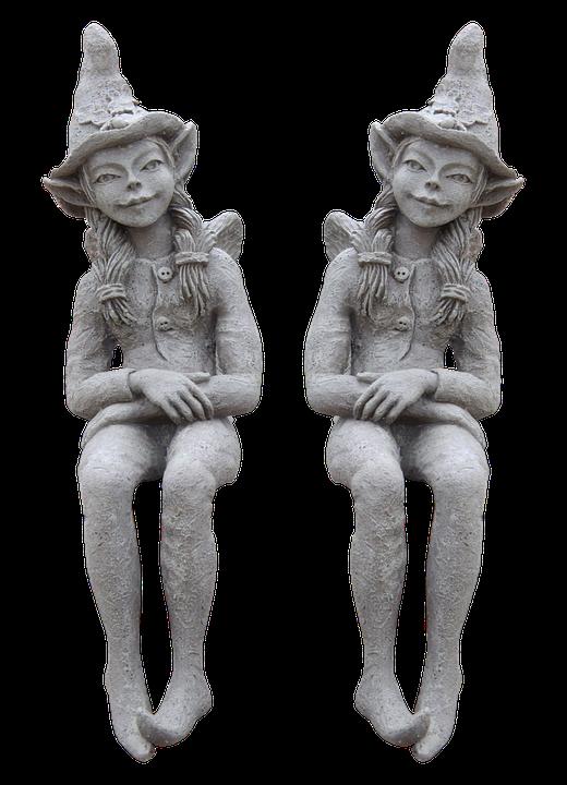 Statue, Sculpture, Art, Imp, Brownie, Stone Figure