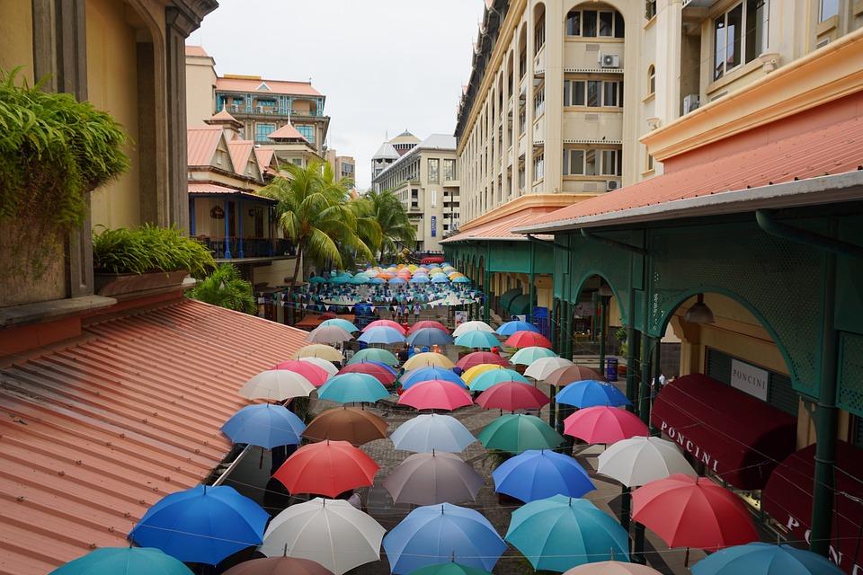 Culture, Street, Art, Umbrella, Color, City