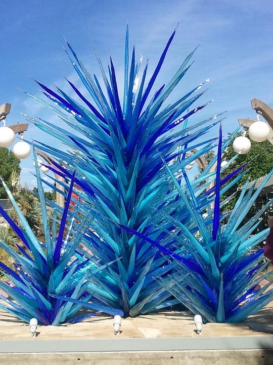 Art, Blue, Glass, Tree