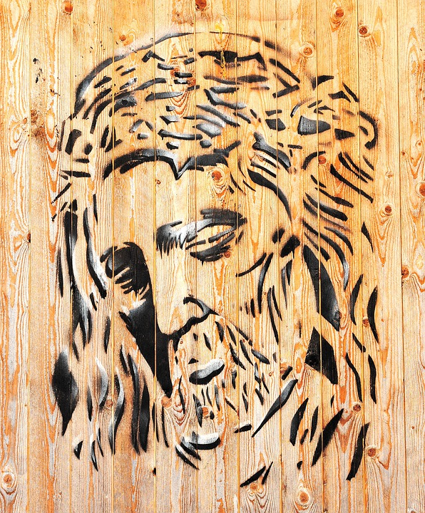 Jesus, Portrait, Image, Wood, Art, Creativity, Face