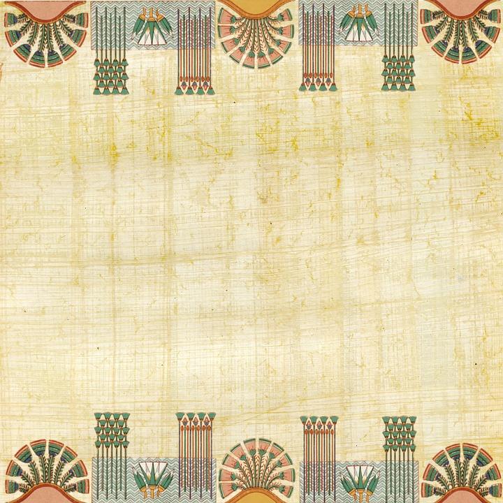 Egyptian, Paper, Papyrus, Hieroglyphs, Design, Artifact
