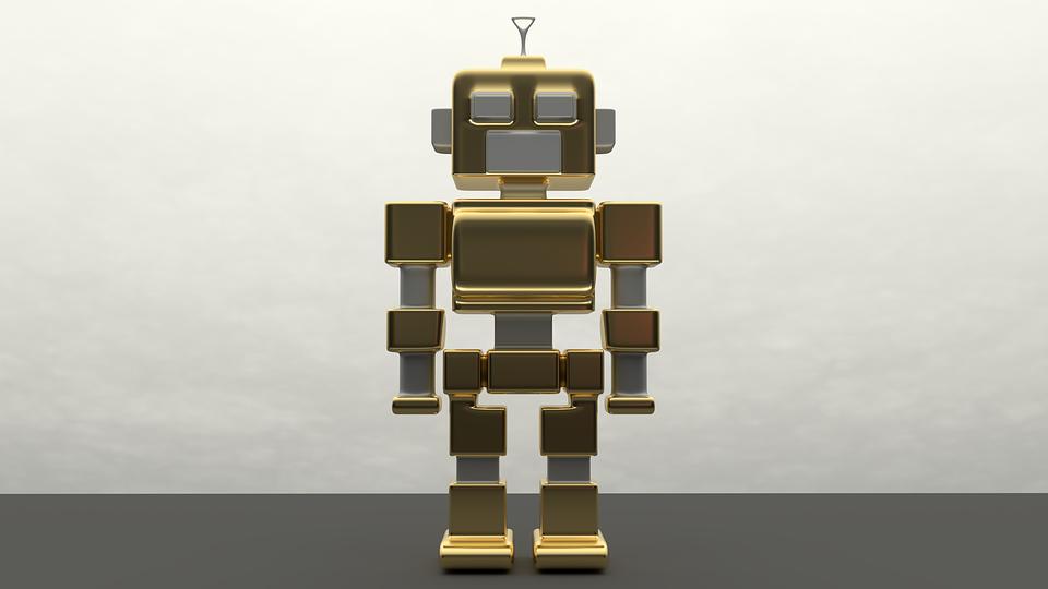 Robot, Metal, Artificial Intelligence, Golden