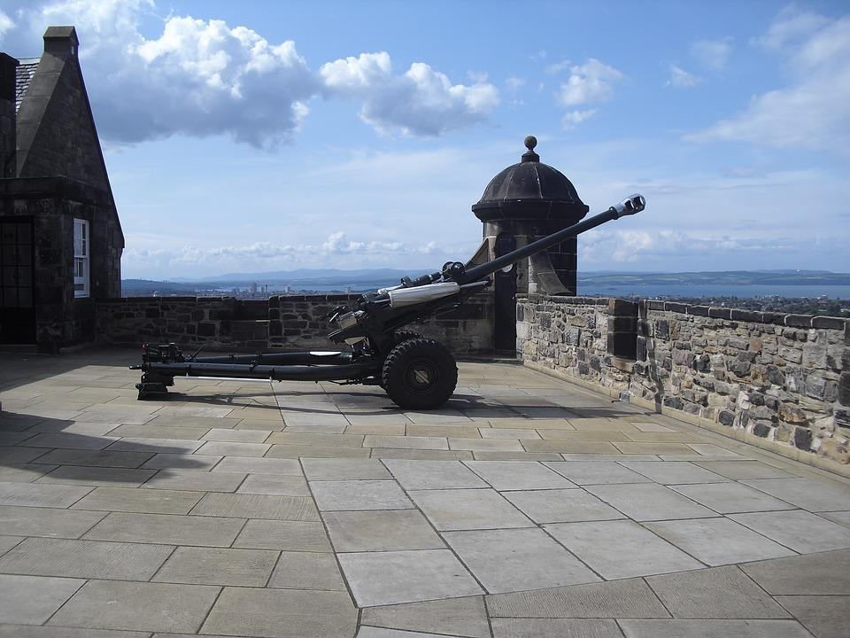 Cannon, Artillery, Edinburgh Castle, Military