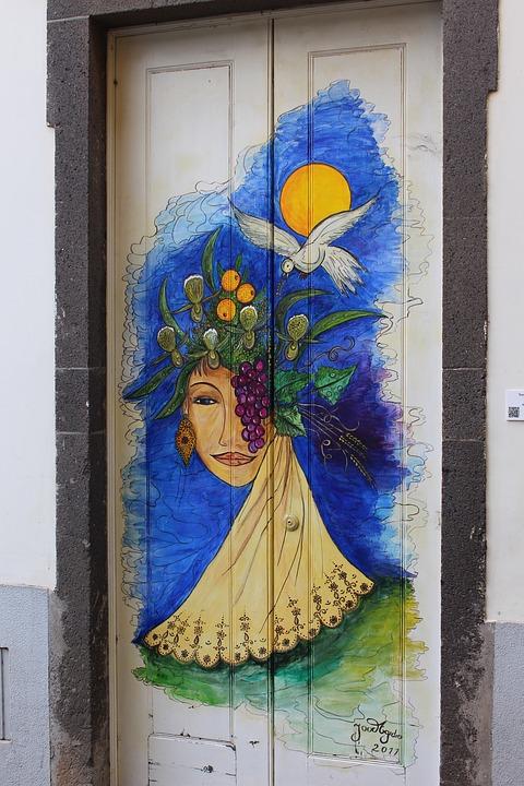 Door, Madeira, Woman, Artist, Dream