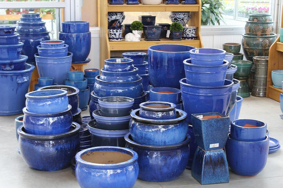 Pottery, Ceramic, Blue, Artist, Pot, Decoration