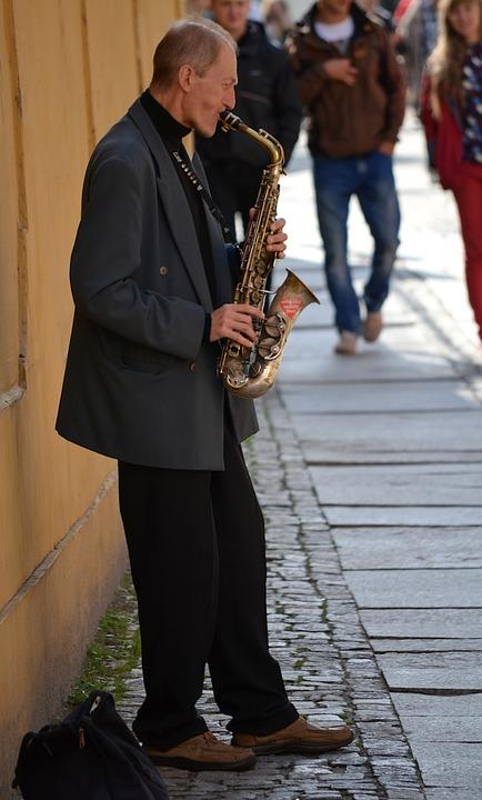 Musician, Saxophone, Street, Music, Instrument, Artist