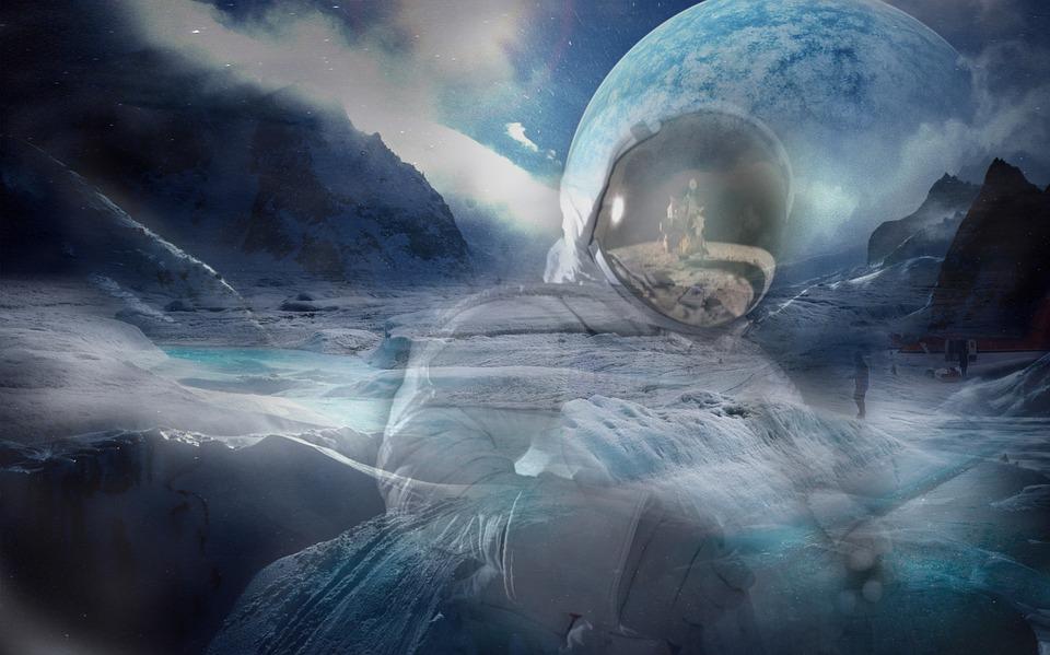 Art, Artistic, Graphic, Digital, Landscape, Winter