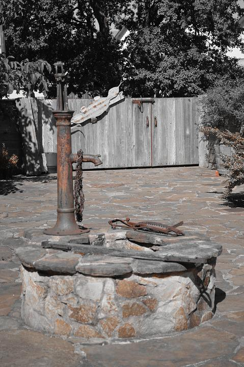 Water Pump, Monochrome, Artistic
