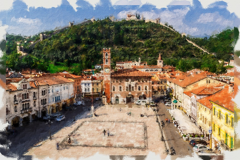 Marostica Chess Castle, Artistic Paint, Architecture