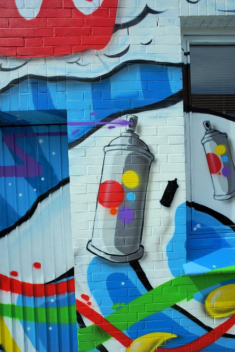 Wall, Hauswand, Colorful, Art, Graffity, Artistically