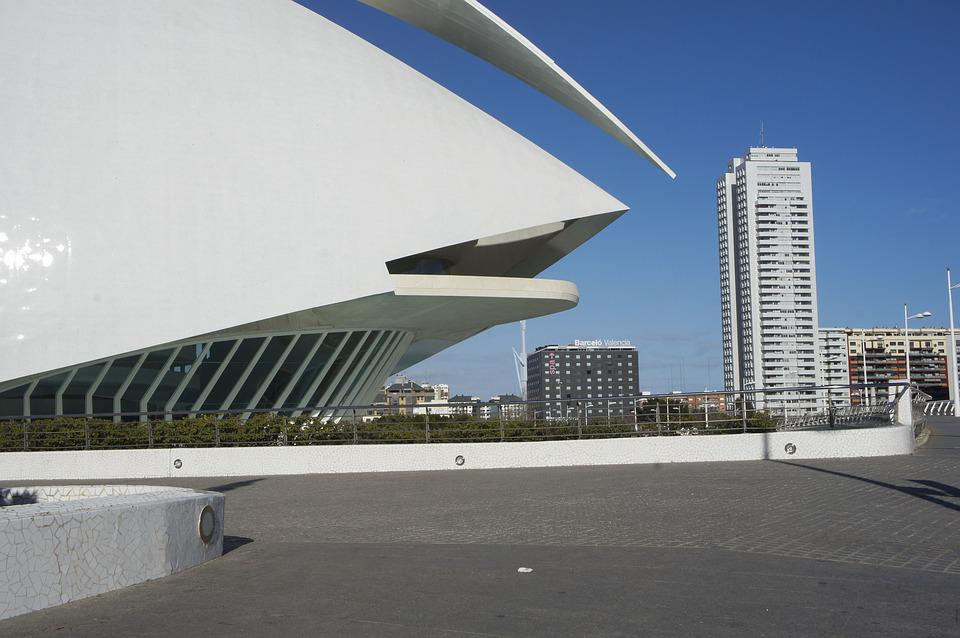 Arts Palace Queen Sofia, Turia River, Valencia, Spain