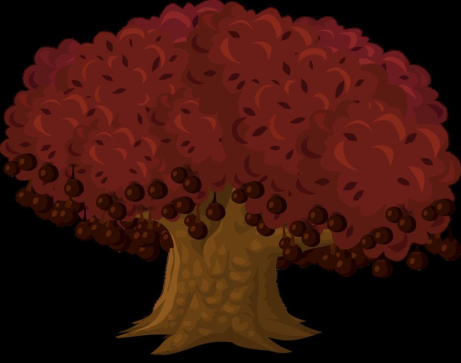 Tree, Art, Artwork, Trunk, Cartoon, Nature, Leaves