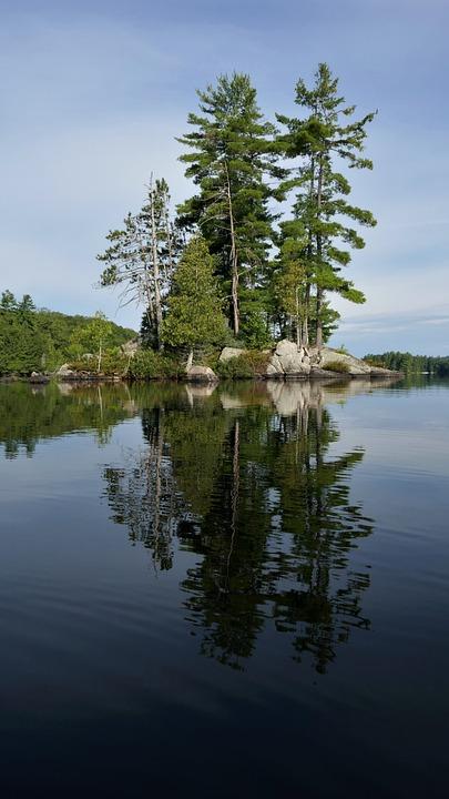 Ashby Lake, Ontario, Canada, Canadian Shield, Dawn