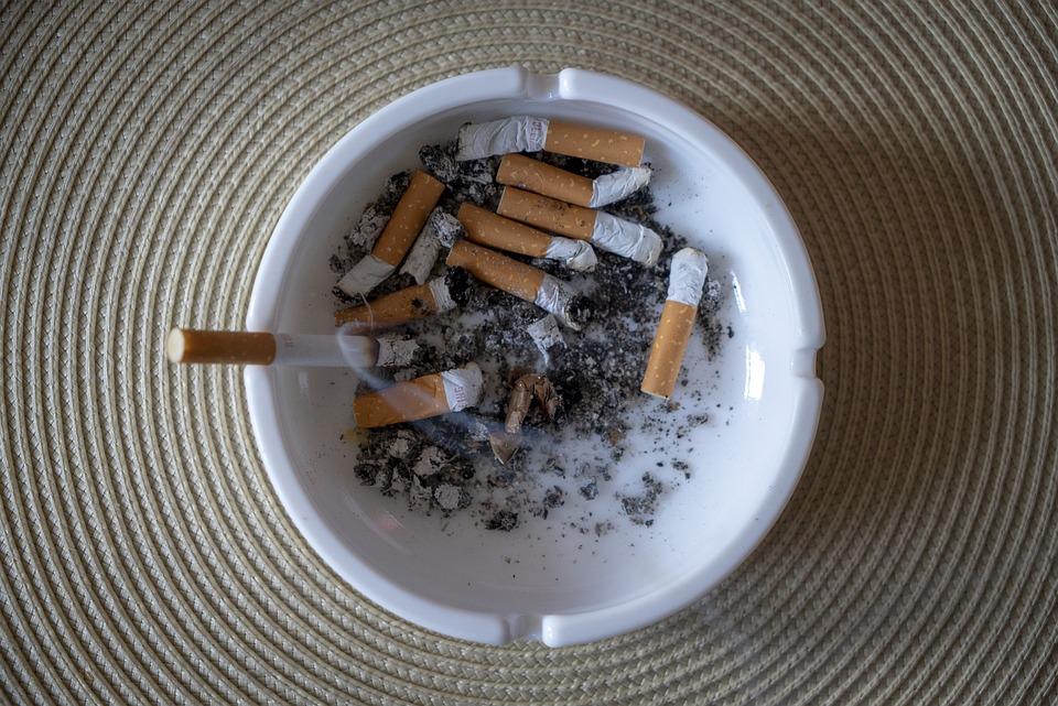 Ashtray, Smoking, Tilt, Cigarette Butts, Ash, Addiction