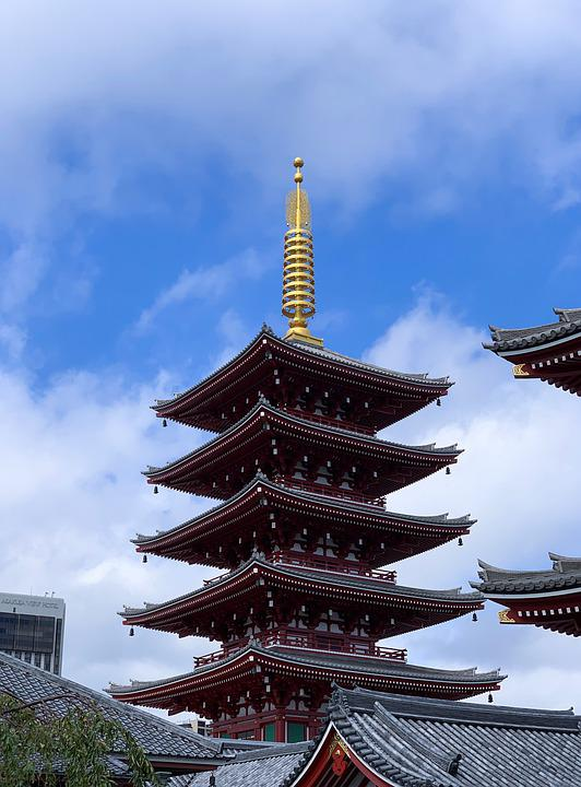 Japan, Temple, Tokyo, Asia, Buddhism, Ancient Times