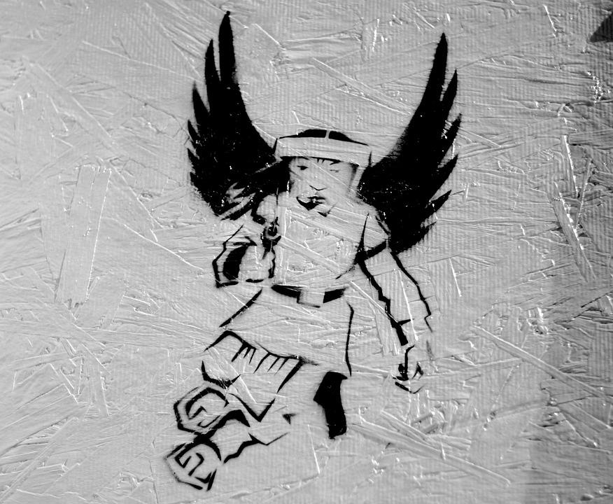 Graffiti, Printing, Mark, Angel, Asia, Art