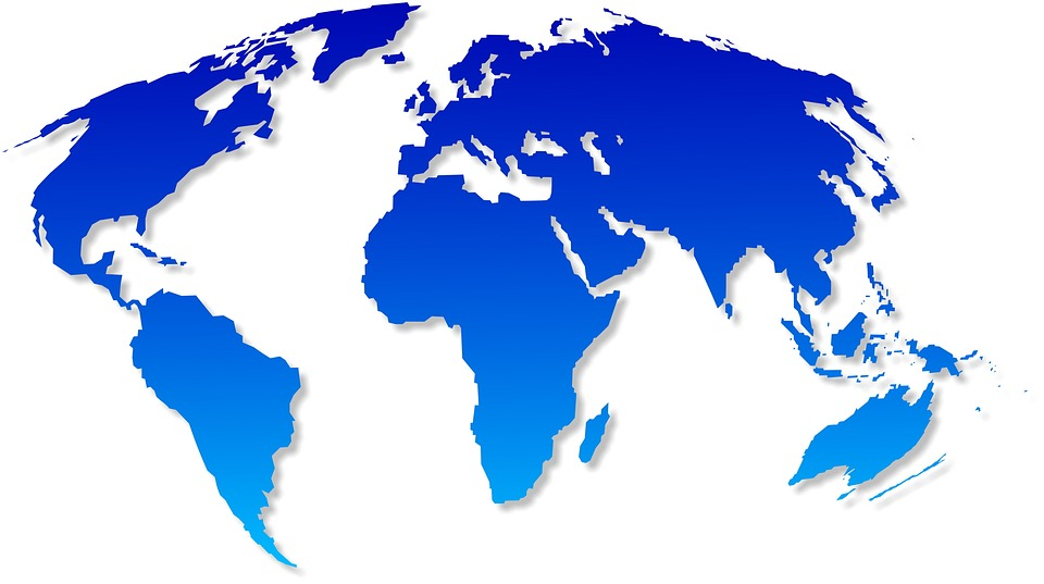 World, Map, Atlas, Blue, Earth, Map Of The World, Asia