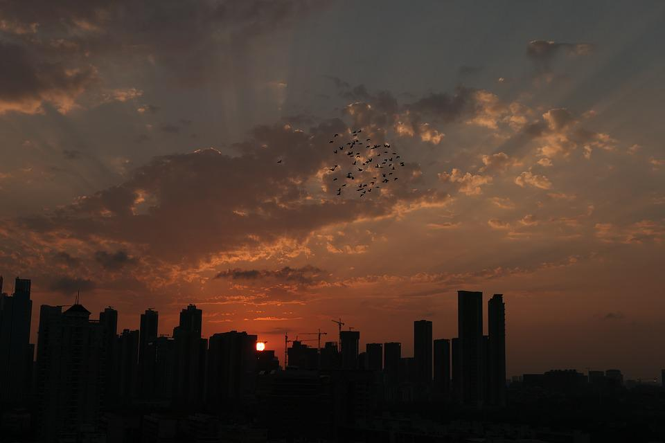 East, Asia, City, Life, Shenzhen, Sunset, The Night Sky