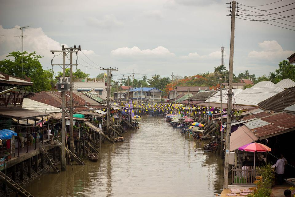 Floating Market, Canal, Classic, Culture, Bangkok, Asia