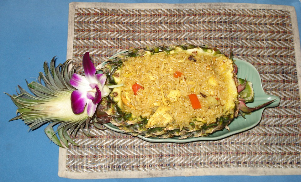 Pineapple, Rice, Thailand, Asia, Eat, Appetite