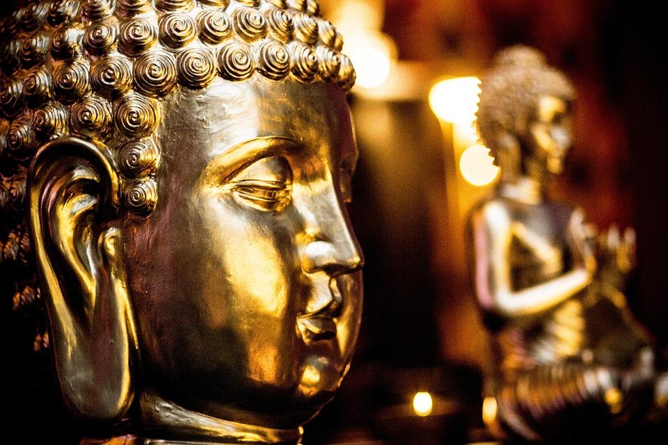Buddha, Gold, Buddhism, Golden Buddha, Asia, Gilded