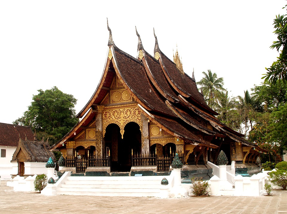 Temple, Luang Prabang, Laos, Phabang, Asia, Mekong