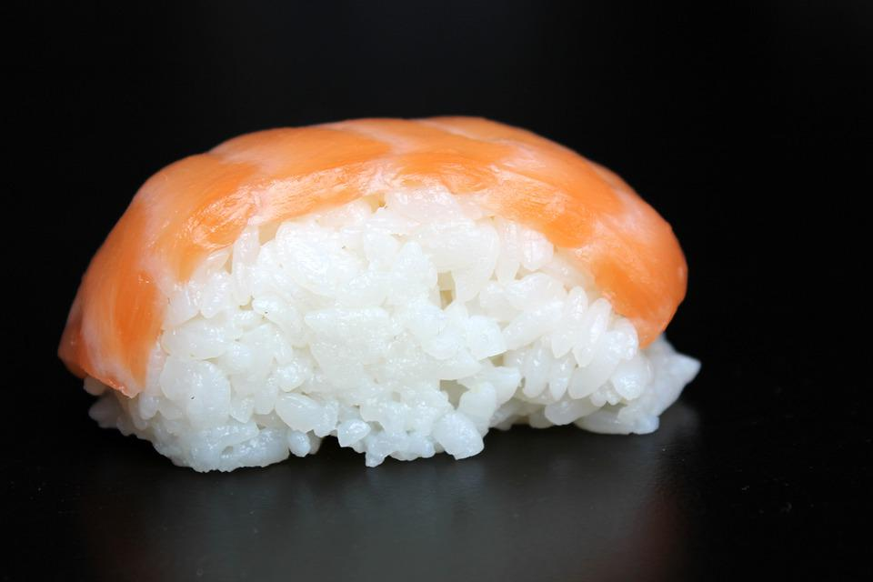 Nigiri, Sushi, Salmon, Japan, Japanese, Asia, Rice, Eat