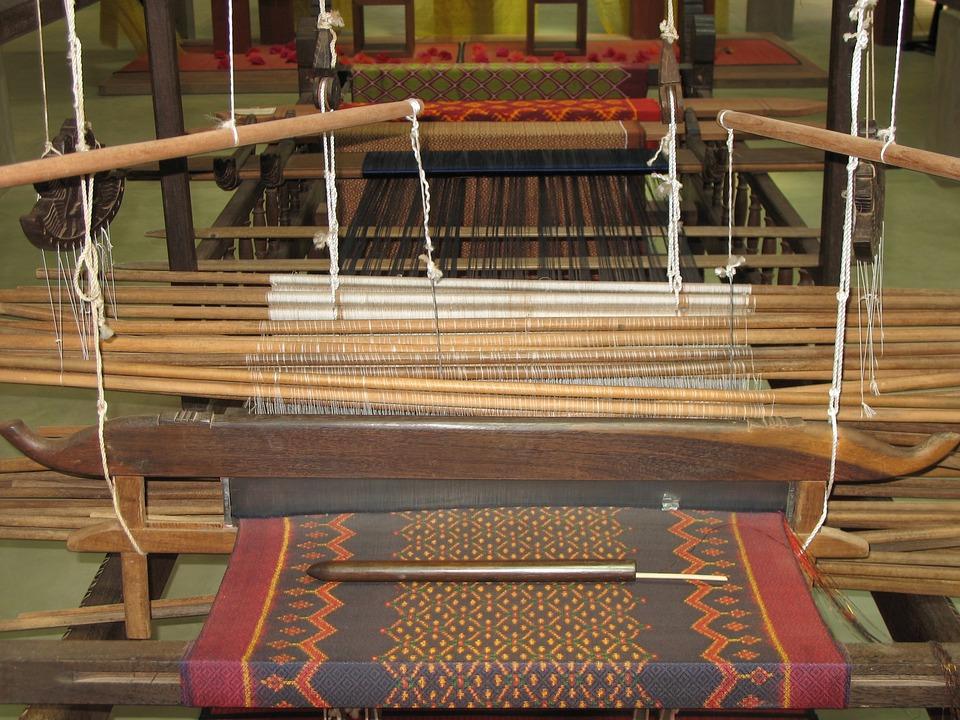 Loom, Brocade, Silk, Asia, Cambodia