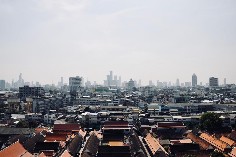 Asia, Thailand, Bangkok, View, Panorama, Skyscrapers