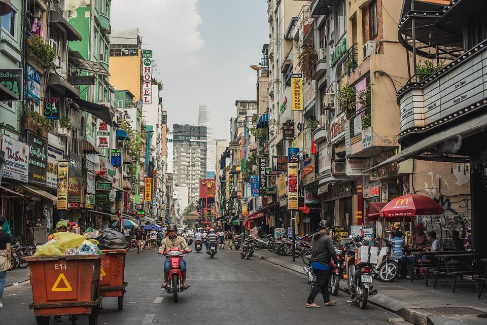Pham Ngu Lao, Vietnam, Bike, People, Street, Road, Asia