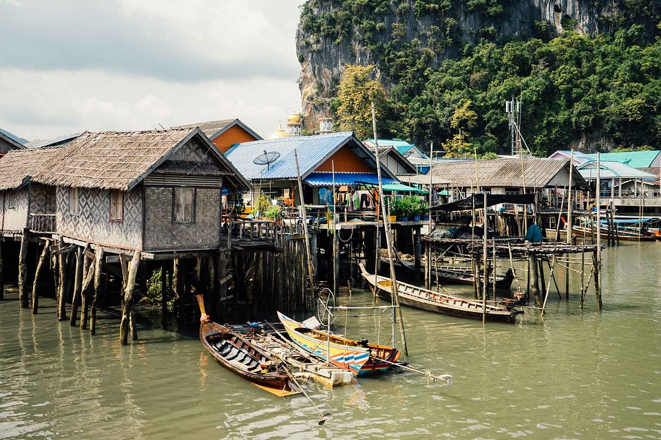Thailand, Watertown, Asia, Culture, Exotic, House, Town