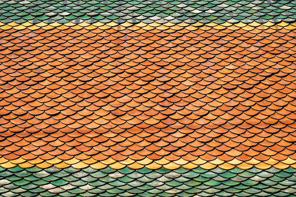 Roof, Roof Tiles, Scales, Antique, Art, Asian, Backdrop