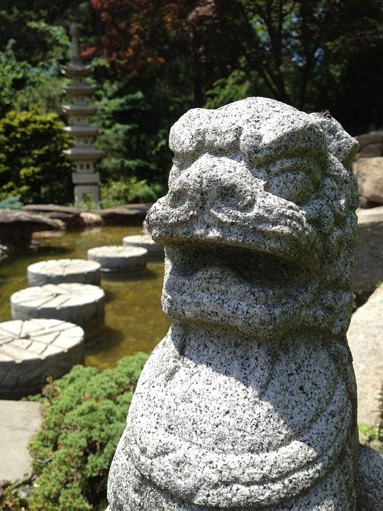 Sculpture, Asian, Garden, Stone, Outdoors, Statue
