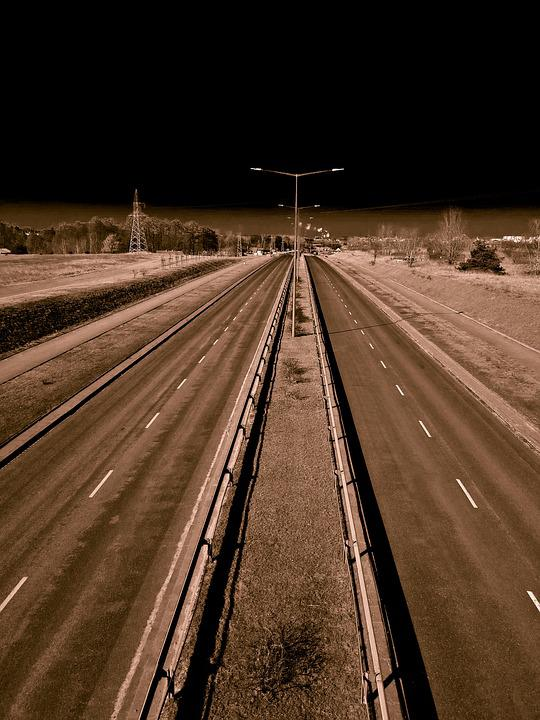 Travel, No One, At The Court Of, Way, Asphalt, Highway