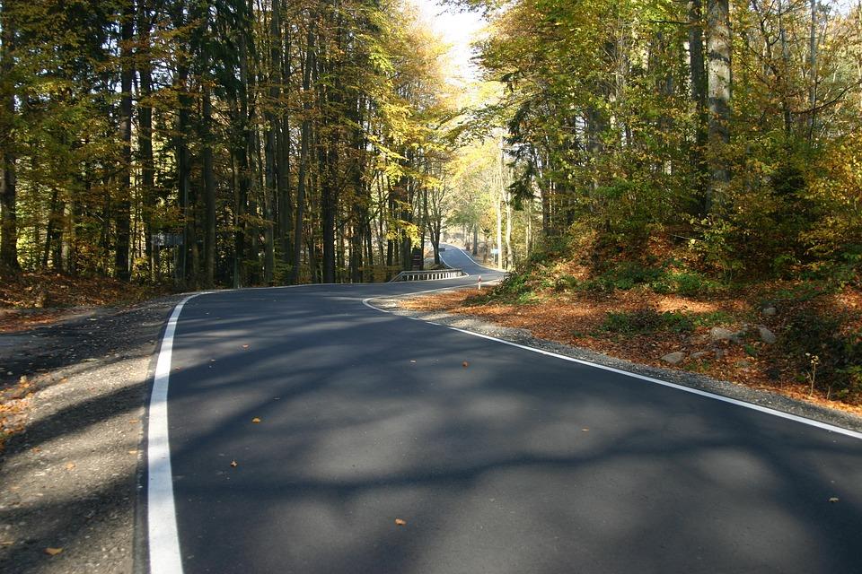 Way, Highway, Landscape, Asphalt Autumn