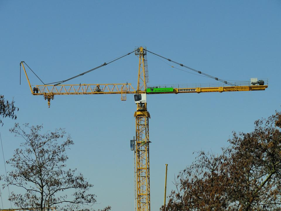 Crane, Assembly, Liebherr, Tower, Construction, Site