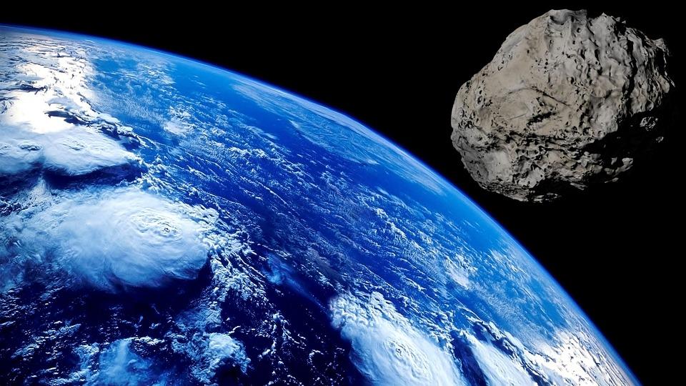 Asteroid, Meteorite, Cosmos, Land