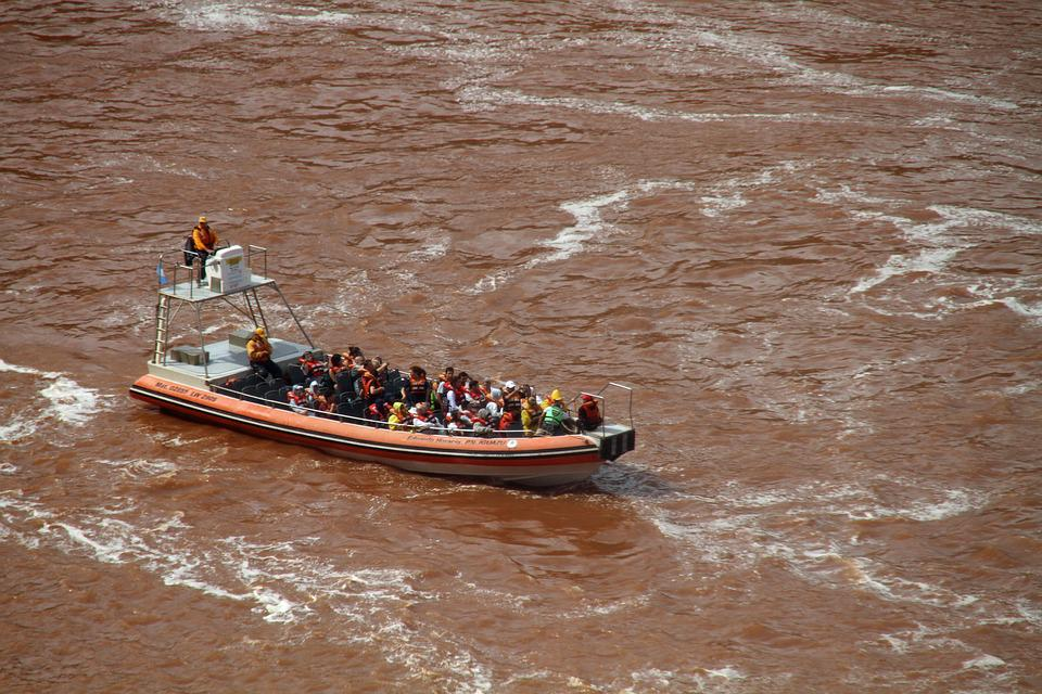 Boat, Iguazú Falls, Argentina, Astounding, Cascades