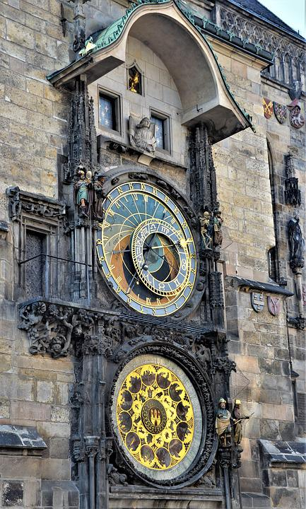 Prague, Astronomical Clock, Old Town, Historically