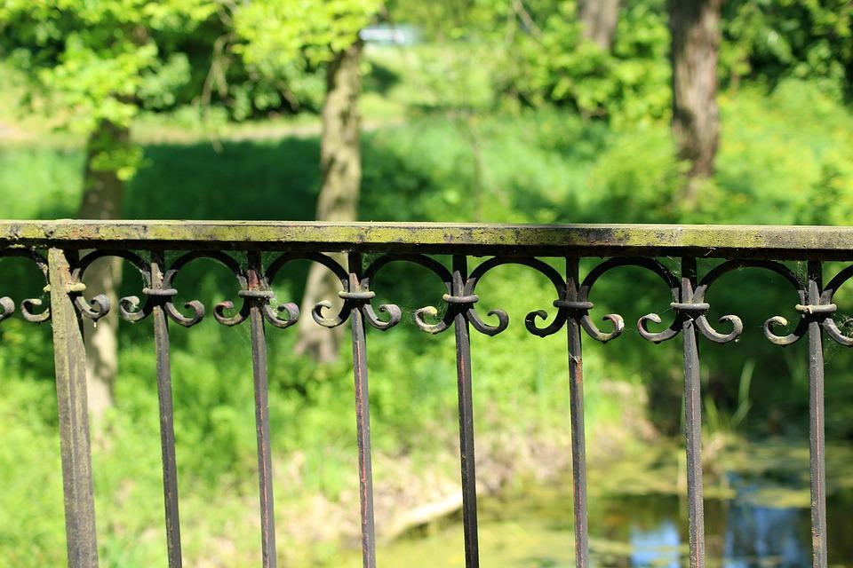 Bridge, Handrail, Metal, At The Court Of, Nature