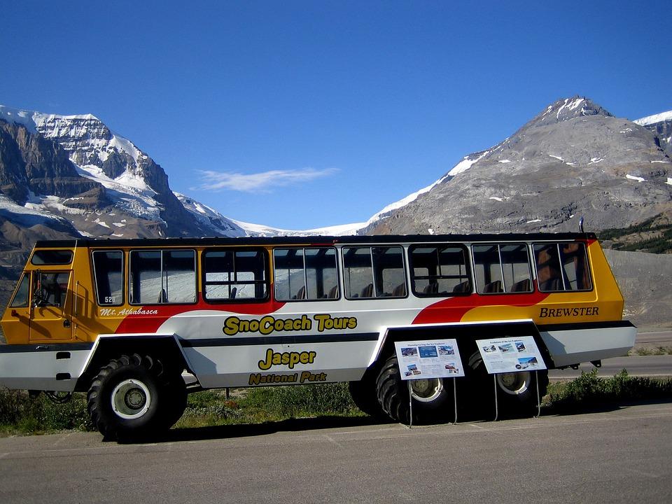Athabasca Glacier, Touring Bus, Transportation, Tourism
