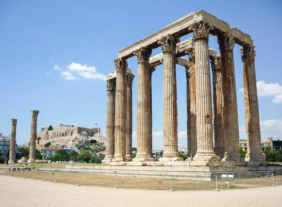 Temple, Athens, Greece, Architecture, Ancient, Greek