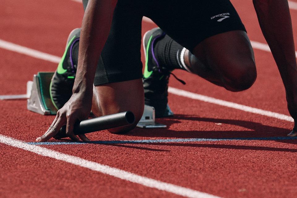 Athlete, Runner, Sprint, Fast, Black, Man, Person