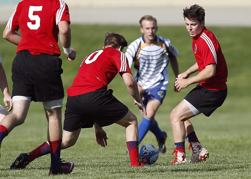 Rugby, Game, High School, Action, Grass, Athlete, Male