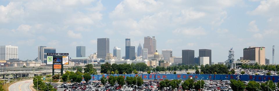 Atlanta, Georgia, City, Landscape, Aerial View