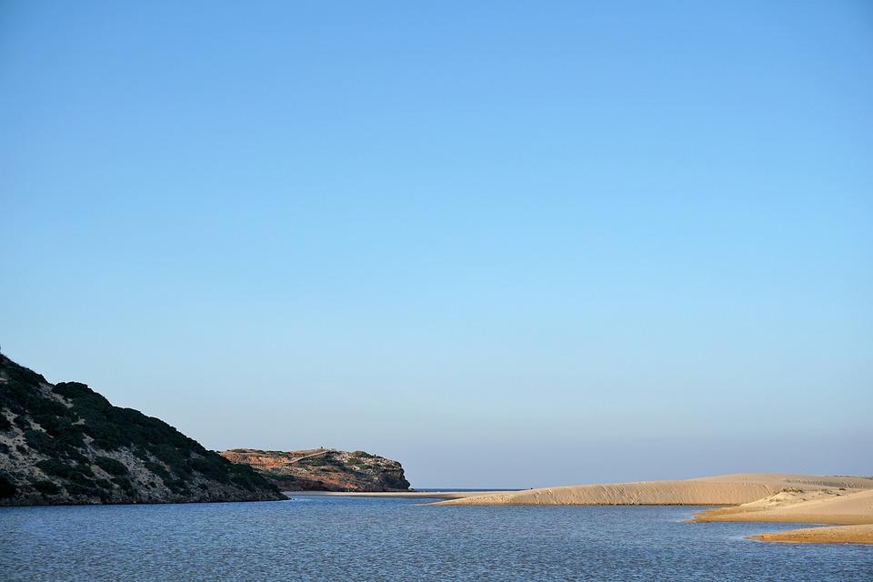 Sea, Coast, Beach, Atlantic, Sand Beach, Sky, Algarve