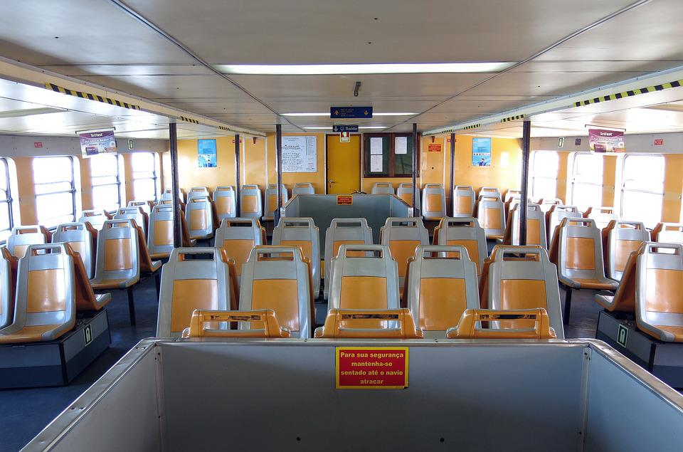 Inside, Ferry, Ship, Lisbon, Atlantic, Transport
