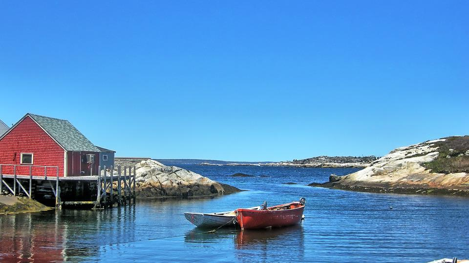 Peggy's Cove, Nova Scotia, Canada, Atlantic, Water