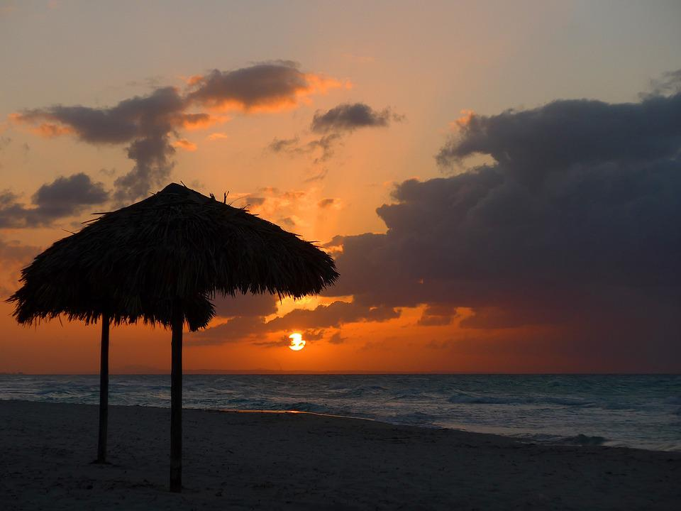 Cuba, Beach, Caribbean, Atlantic, Sea, Ocean, Sunset